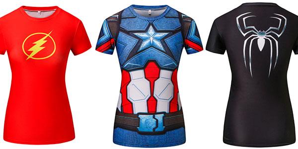 Chollo Camisetas de superhéroes para mujer