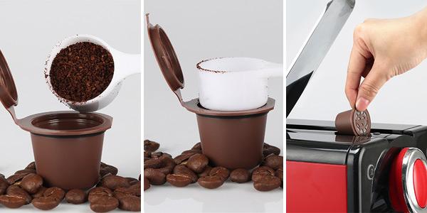 Cápsulas recargables con filtro para Nespresso