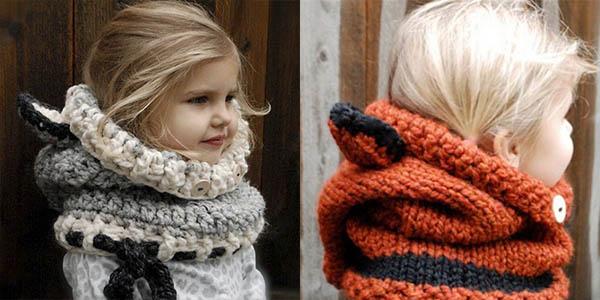 Capucha de lana infantil en varios modelos
