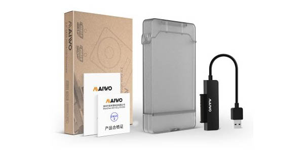 Carcasa USB 3.0 Maiwo K104 para HDD de 2,5