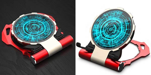 Cargador inalámbrico Qi con diseño Reactor Arc de Iron Man