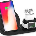 Base de carga inalámbrica para móvil, smartwatch y auriculares