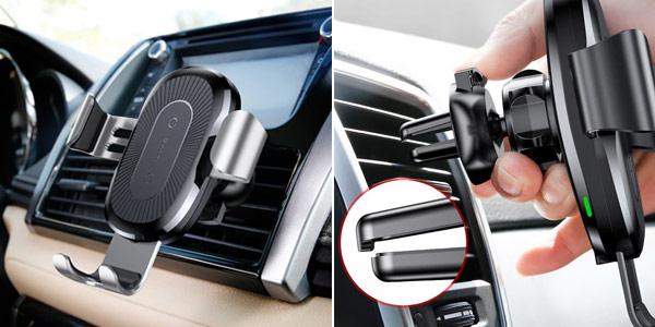 Soporte de smartphone para coche Baseus con cargador inalámbrico chollazo en Joybuy