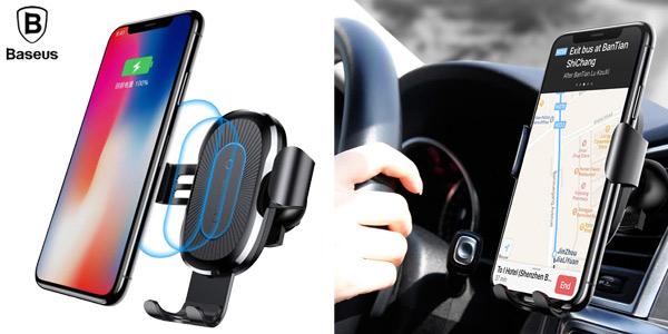 Soporte de smartphone para coche Baseus con cargador inalámbrico barato en Joybuy