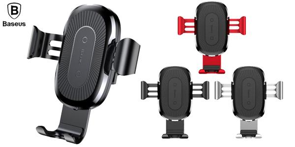Soporte de smartphone para coche Baseus con cargador inalámbrico chollo en Joybuy