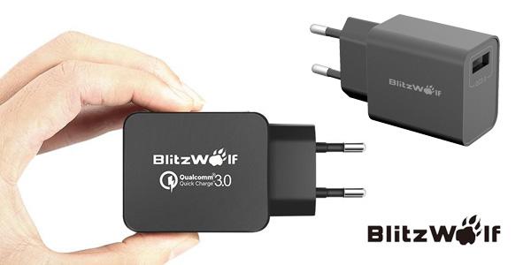 Cargador USB de pared BlitzWolf BW-S5 QC3.0 chollazo en Banggood