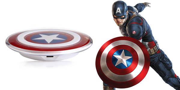 Cargador smartphone Qi Escudo Capitán América