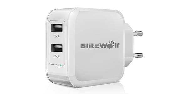 Cargador USB BlitzWolf BW-S2 4.8A 24W