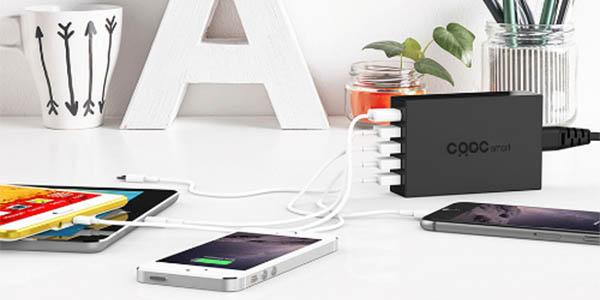 Cargador USB con 5 puertos barato