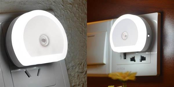 Cargador USB Alfawise de pared 2 puertos con luz LED barato