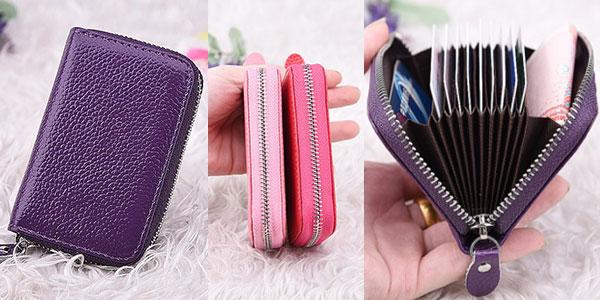 Billetera y tarjetero en varios colores para mujer al mejor precio