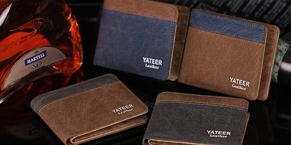 Cartera billetera de cuero sintético
