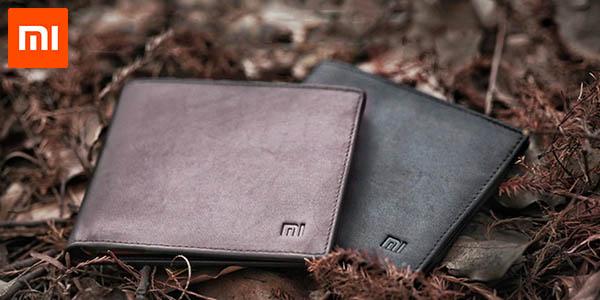 Cartera Xiaomi de cuero auténtico en color marrón o negro
