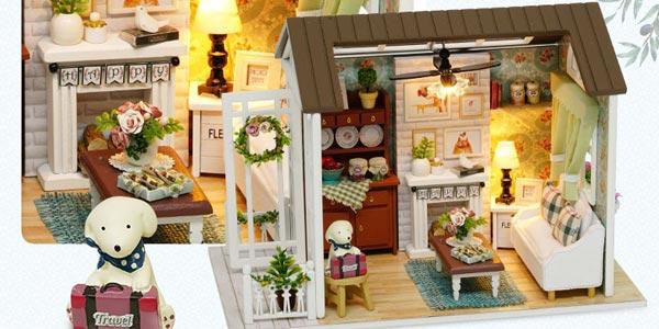 Casa de muñecas en miniatura para montar chollo en AliExpress