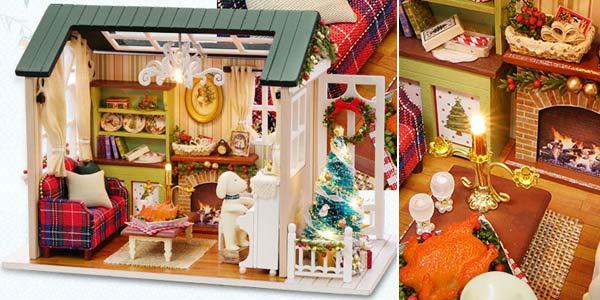 Casa de muñecas en miniatura para montar chollazo en AliExpress