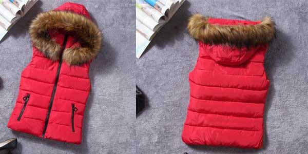 Chaleco con capucha para mujer en varios colores