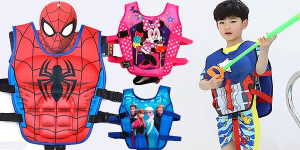 Chaleco flotador infantil de superhéroes barato