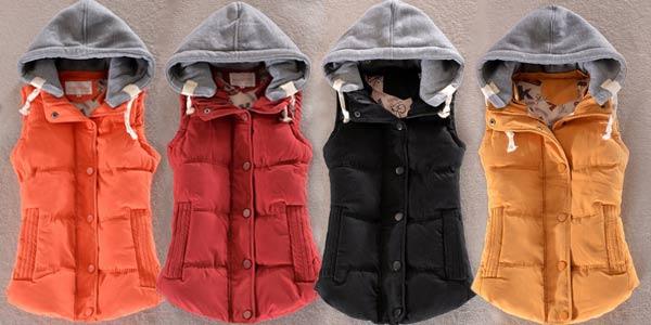 Chaleco acolchado Tengo con capucha de algodón para mujer chollo en AliExpress