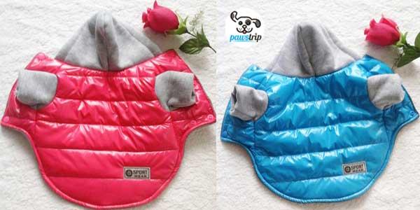 Chaqueta-chubasquero Pawstrip con interior de algodón para perros barata en AliExpress