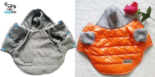 Chaqueta-chubasquero Pawstrip con interior de algodón para perros chollazo en AliExpress