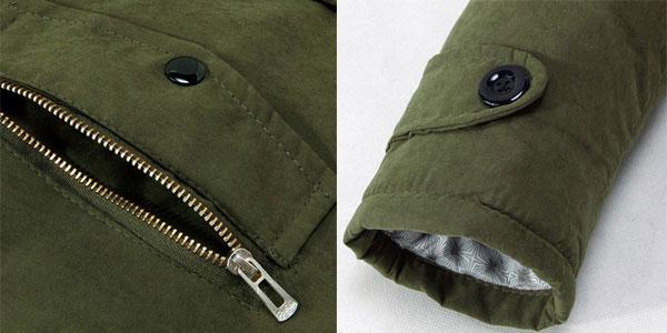 Chaquetón de invierno con capucha para hombre barato en AliExpress
