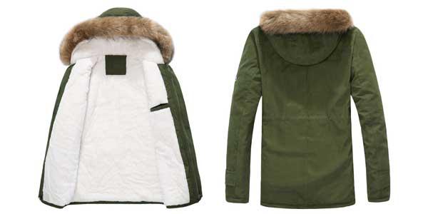 Chaquetón de invierno con capucha para hombre chollazo en AliExpress