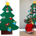 Chollo Árbol de Navidad de fieltro para colgar en la pared