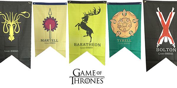 Chollo Banderas de las casas de Juego de Tronos