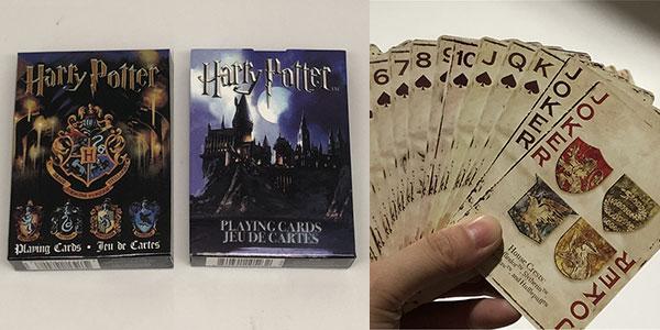 Chollo Baraja de cartas de póker de Harry Potter