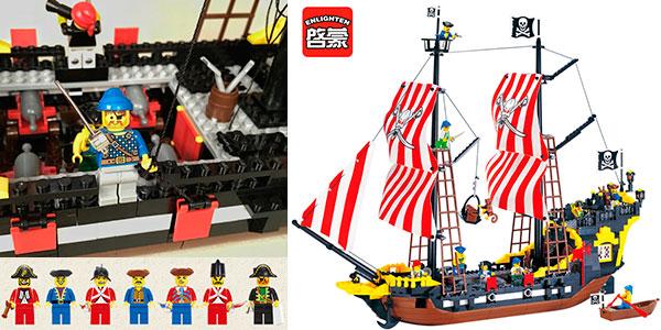Chollo Barco pirata de tipo LEGO con 870 piezas