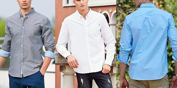 Chollo Camisa de algodón de manga larga para hombre