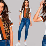 Chollo Camiseta Shein con estampado animal print para mujer