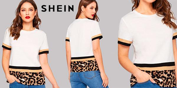 Chollo Camiseta Shein de manga corta para mujer