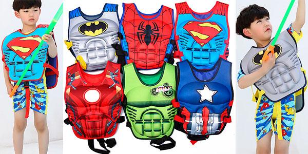 Chollo Chaleco flotador infantil de superhéroes
