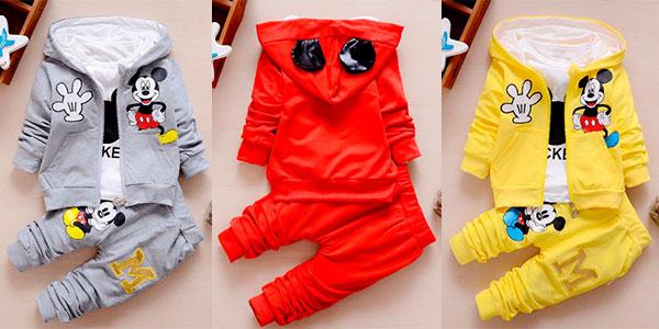 Chollo Chándal de Mickey con capucha en varios modelos para bebé
