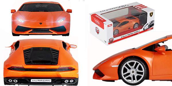 Coche radiocontol Lamborghini Huracán en escala 1:18 de color naranja