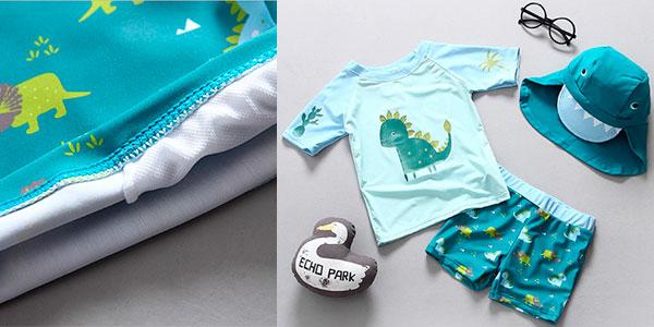 Chollo Conjunto de ropa de baño infantil con factor protección UPF50+