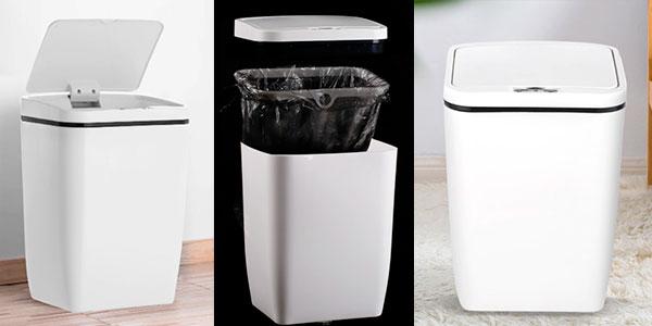 Chollo Cubo de basura con tapa automática