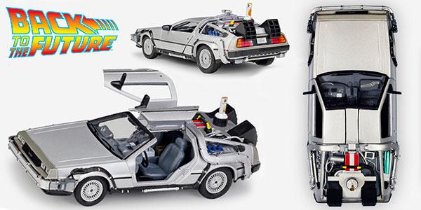 Chollo DeLorean de Regreso al Futuro metálico a escala 1:24
