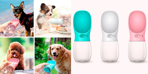 Chollo Bebedero portátil para mascotas