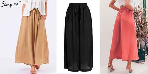 Chollo Falda pantalón de cintura alta en varios modelos para mujer