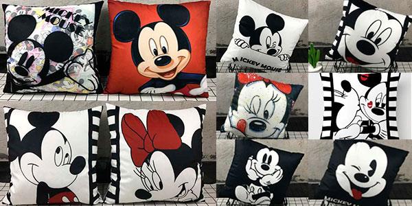Funda para cojín de Mickey y Minnie (40 x 40 cm) en oferta