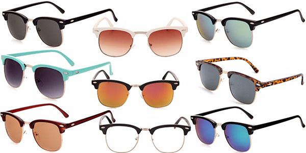 Chollo Gafas de sol unisex de espejo con protección UV400