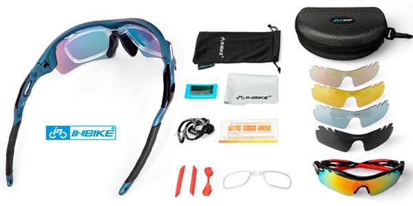Chollo Gafas polarizadas de ciclismo Inbike de policarbonato