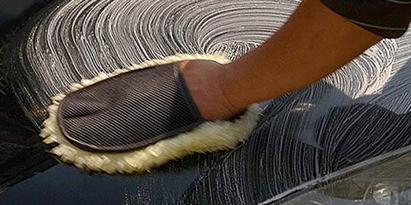 Manopla para limpiar de lana barata