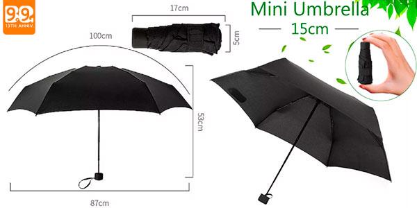Chollo Mini paraguas plegable