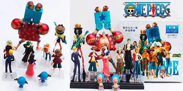 Chollo Pack de 10 figuras One Piece en varios tamaños