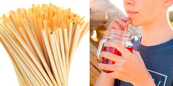 Chollo Pack de 100 pajitas de trigo biodegradables