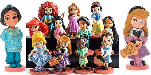 Chollo Pack de 11 mini figuras de princesas Disney