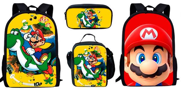 Chollo Pack mochila, estuche y bolsa de comida de Super Mario